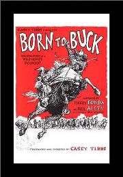 Born to Buck art print poster with simple frame
