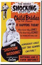 Shotgun Wedding art print poster with block mounting