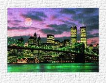 New York City art print poster transferred to canvas