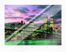 New York City art print poster with laminate