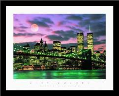 New York City art print poster with simple frame