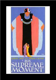 His Supreme Moment art print poster with simple frame