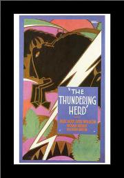 Thundering Herd, the art print poster with simple frame