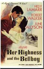 Her Highness and the Bellboy art print poster with block mounting