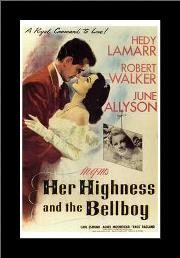 Her Highness and the Bellboy art print poster with simple frame