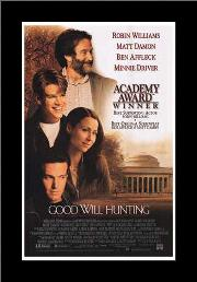 Good Will Hunting art print poster with simple frame