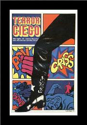 Terror Ciego art print poster with simple frame