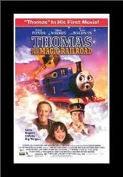 Thomas and the Magic Railroad art print poster with simple frame