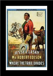 Where the Trail Divides art print poster with simple frame