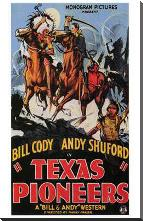 Texas Pioneers art print poster with block mounting