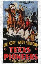 Texas Pioneers art print poster transferred to canvas