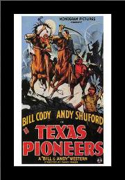 Texas Pioneers art print poster with simple frame