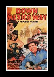 Down Mexico Way art print poster with simple frame