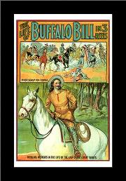 Life of Buffalo Bill, the art print poster with simple frame