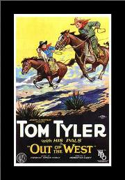 Out of the West art print poster with simple frame