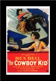 Cowboy Kid, the art print poster with simple frame