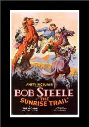 Sunrise Trail, the art print poster with simple frame