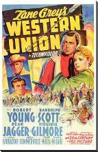 Western Union art print poster with block mounting