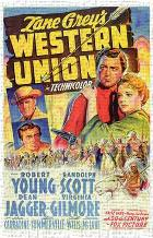 Western Union art print poster transferred to canvas
