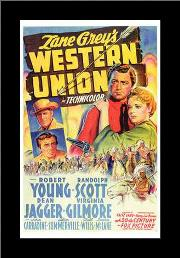 Western Union art print poster with simple frame