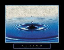 Action - Drop Of Water art print poster transferred to canvas