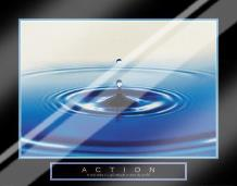 Action - Drop Of Water art print poster with laminate