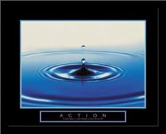 Action - Drop Of Water art print poster with simple frame