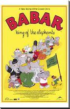 Babar: King of the Elephants art print poster with block mounting