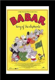Babar: King of the Elephants art print poster with simple frame