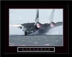 Strength - Aircraft art print poster with simple frame