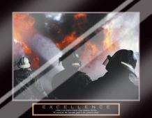 Excellence - Three Firemen art print poster with laminate