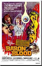 Baron Blood art print poster with block mounting