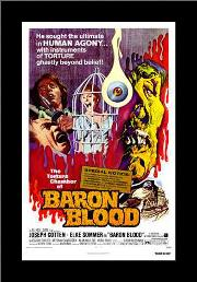 Baron Blood art print poster with simple frame