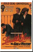 Lucille Love art print poster with block mounting