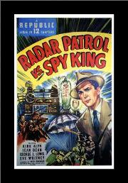 Radar Patrol Vs Spy King art print poster with simple frame