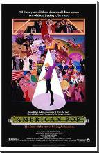 American Pop art print poster with block mounting