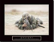 Bravery - Sniper art print poster with block mounting