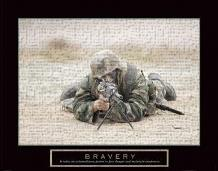 Bravery - Sniper art print poster transferred to canvas