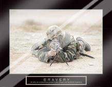 Bravery - Sniper art print poster with laminate