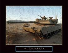 Authority - Tank art print poster transferred to canvas