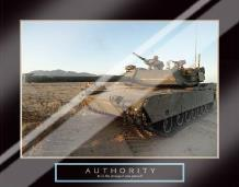 Authority - Tank art print poster with laminate