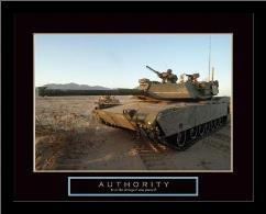 Authority - Tank art print poster with simple frame