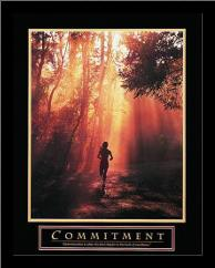 Commitment-Runner art print poster with simple frame
