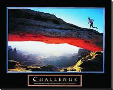 Challenge-Runner art print poster with block mounting