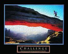 Challenge-Runner art print poster transferred to canvas