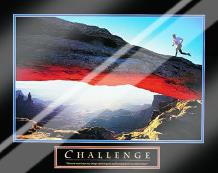 Challenge-Runner art print poster with laminate