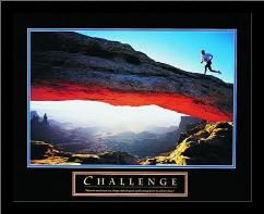 Challenge-Runner art print poster with simple frame