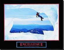 Excellence-Snow Climber art print poster with block mounting