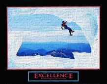 Excellence-Snow Climber art print poster transferred to canvas