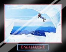 Excellence-Snow Climber art print poster with laminate